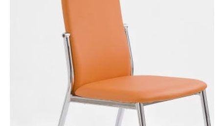 Kovová židle K3 oranžová