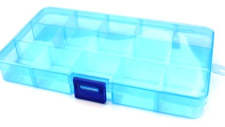 Univerzální plastový box s přihrádkami 17,5 x 10,2 cm - více barev