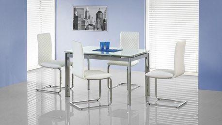 Skleněný jídelní rozkládací stůl Lambert bílá