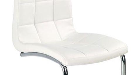 Kovová židle K147 bílá