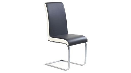 Kovová židle K103 šedo-bílá