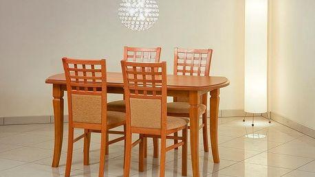 Dřevěný jídelní stůl Fryderyk 200 cm s přírodní dýhou olše