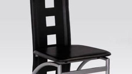 Kovová židle K4 M hnědá