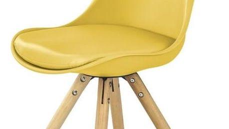 Jídelní židle K201 žlutá