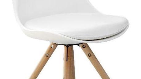 Jídelní židle K201 bílá