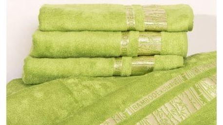 Night in Colours Bambusová osuška YOONA - světle zelená 70x140 cm