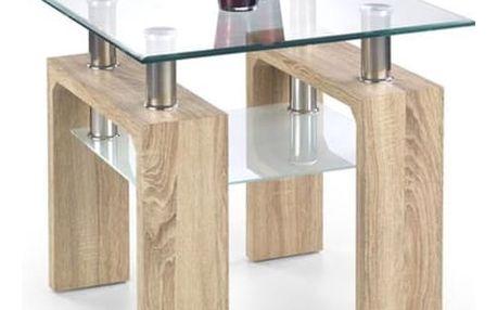 Konferenční stůl Diana H - čtverec, lakovaný bílá