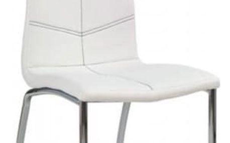 Kovová židle K114 bílá
