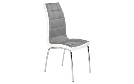 Jídelní židle K186 šedo-bílá