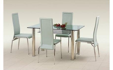 Skleněný jídelní stůl Lenart