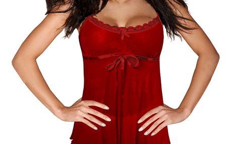 Trina Red sexy komplet - košilka + kalhotky