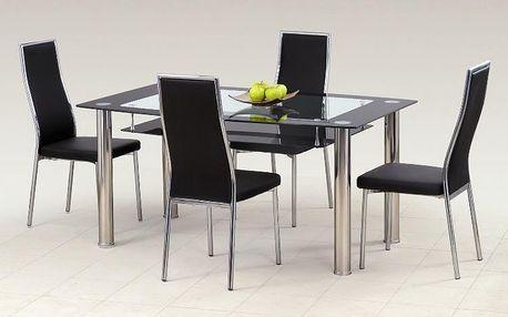 Skleněný stůl Cristal černá