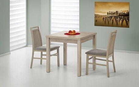 Dřevěný rozkládací jídelní stůl Gracjan bílá - dub sonoma
