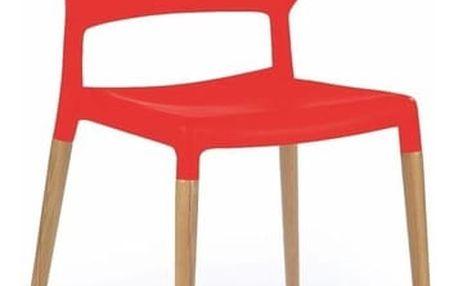 Jídelní židle K163 červená