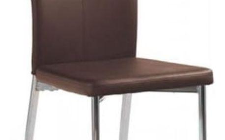 Kovová židle K113 tmavě hnědá