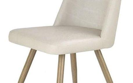 Jídelní židle K214 tmavě krémová