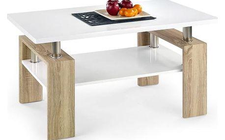 Konferenční stůl Diana H MDF dub sonoma/bílá deska