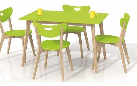 Jídelní stůl Lorrita zelená