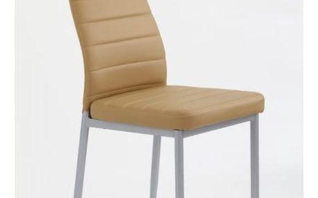 Kovová židle K70 světle hnědá