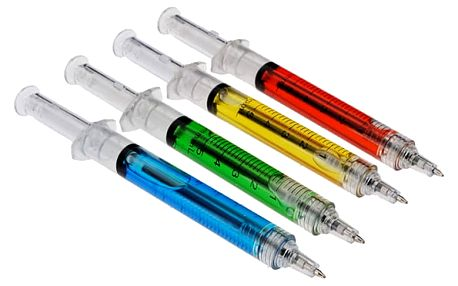 Sada 4 propisek ve tvaru injekční stříkačky - dodání do 2 dnů