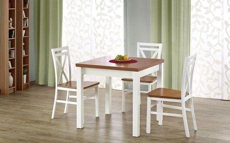 Dřevěný rozkládací jídelní stůl Gracjan olše