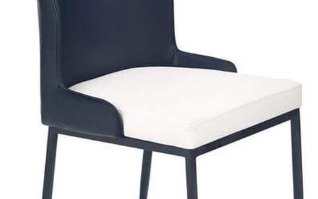 Kovová židle K199 černo-bílá
