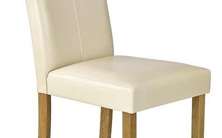 Jídelní židle Caro krémová