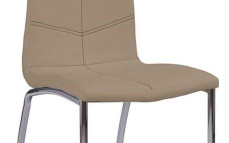 Kovová židle K114 tmavě béžová