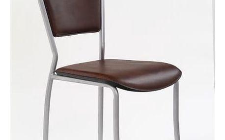 Kovová židle K72 M doprodej hnědá