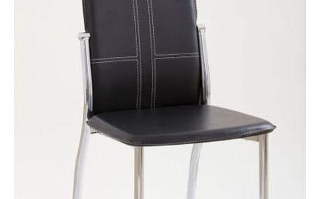Kovová židle K47 černá