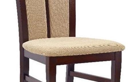 Dřevěná židle Hubert 2 tmavý ořech