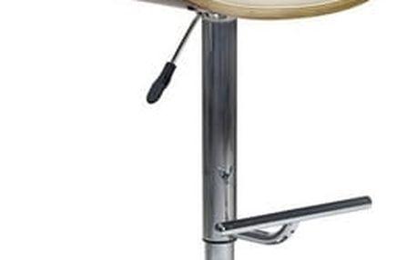 Barová židle H-44 ořech/krémová