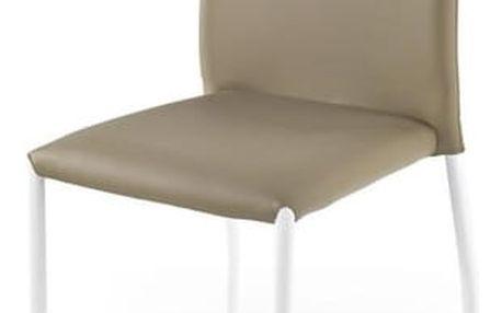 Kovová židle K168 tmavě béžová