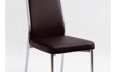 Kovová židle K86 tmavě hnědá