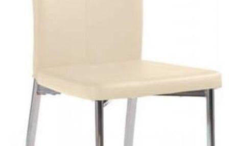 Kovová židle K113 tmavě krémová