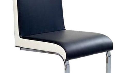 Kovová židle K103 černá - bílá