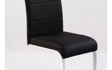 Kovová židle K85 hnědá