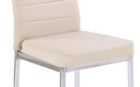Kovová židle K70 C tmavě béžová