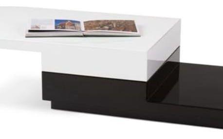 Konferenční stůl Montana bílá-černá