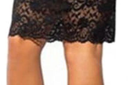 Dámská elegantní sukně s krajkovým lemem
