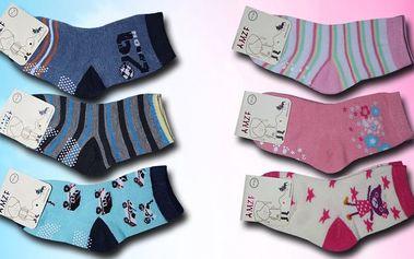 Bavlněné protiskluzové ponožky pro děti