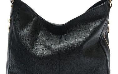 Černá kožená kabelka Isabella Rhea Fraximus - doprava zdarma!