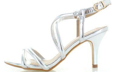 Stříbrné sandály Motion
