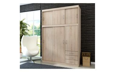Šatní skříň s posuvnými dveřmi Saima - DOPRAVA ZDARMA!
