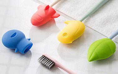 Roztomilé kryty na zubní kartáčky