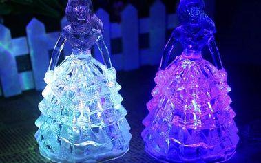 LED lampička v podobě princezny - dodání do 2 dnů