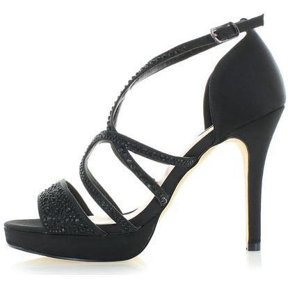 Černé sandály Menbur Amirita