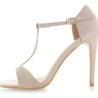 Béžové semišové sandály Sparks