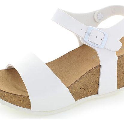 Bílé platformové sandály Severina