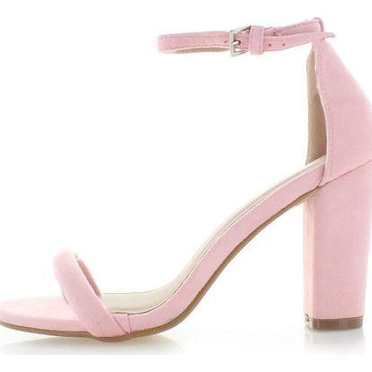 Světle růžové semišové sandály Amber II